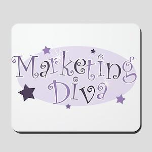 """Marketing Diva"" [purple] Mousepad"